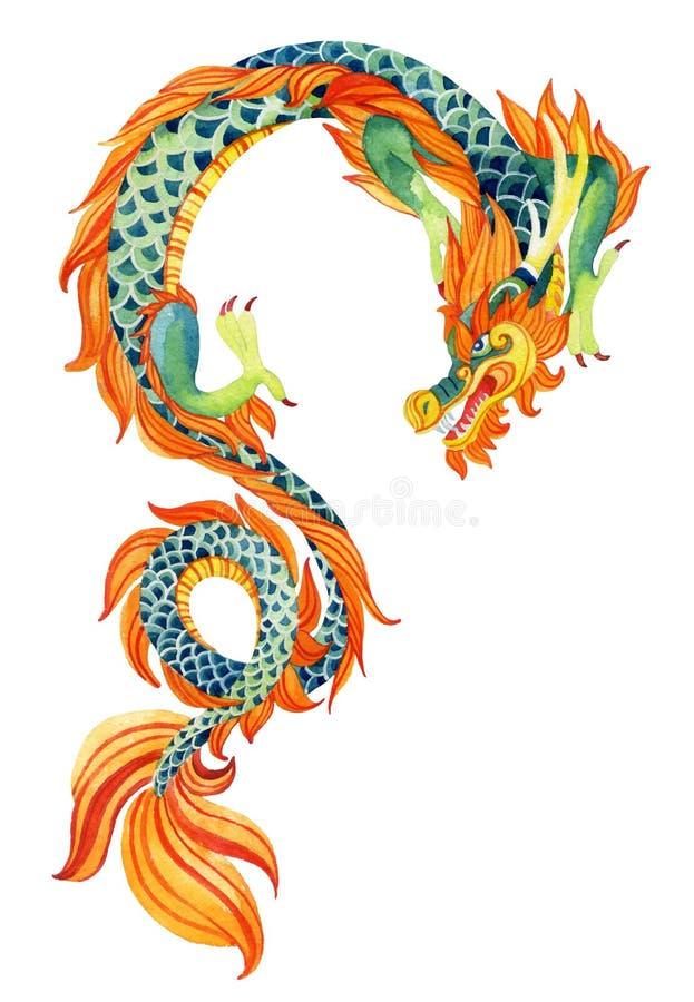 Chinesischer Drache stock abbildung