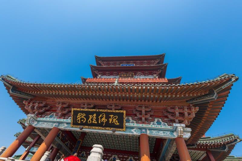 Chinesischer Eimerbogen Dachgesimspavillon von Pavillon Prinzen TengTengwang lizenzfreie stockbilder