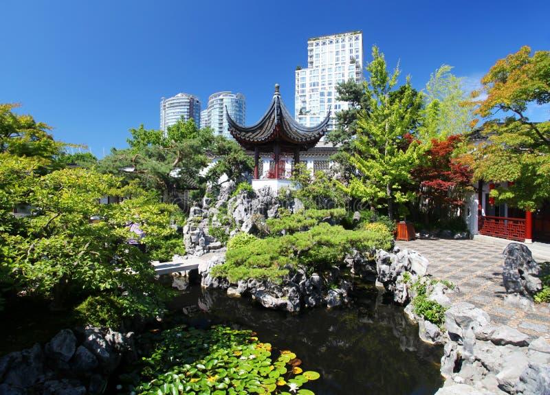 Chinesischer Garten stockbild