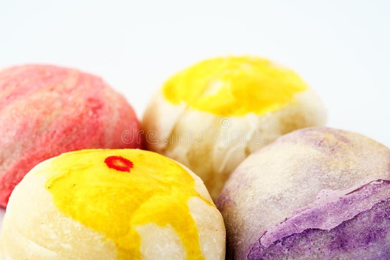 Chinesischer Gebäck- oder Mondkuchen oder Mungobohnefüllungskuchen oder Ei yol stockbild