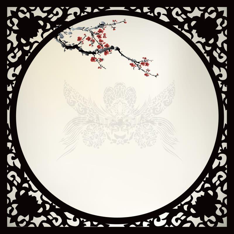 Chinesischer Hintergrund vektor abbildung