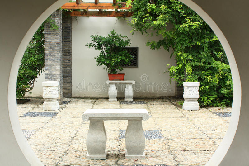 Download Chinesischer Hof stockfoto. Bild von rebe, stein, architektur - 96925910