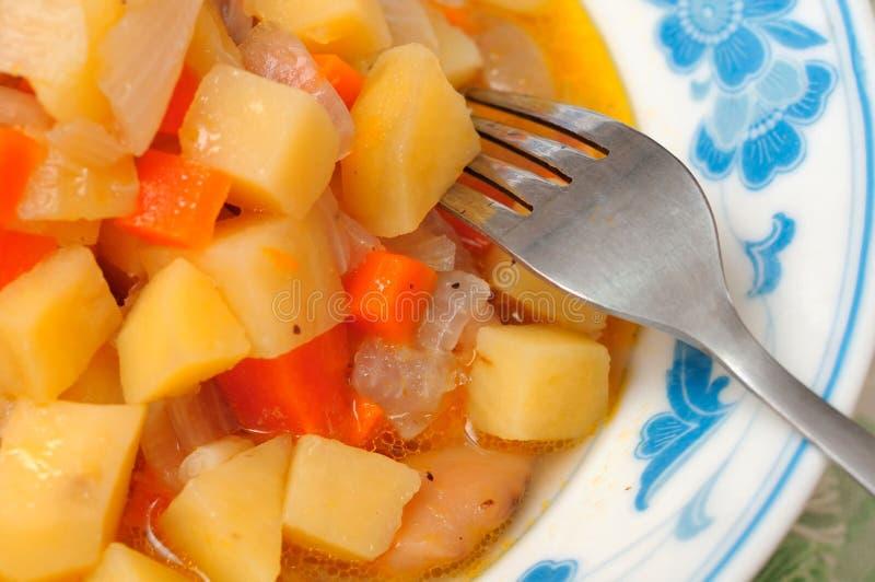 Chinesischer Karotte- und Kartoffelteller lizenzfreie stockfotos