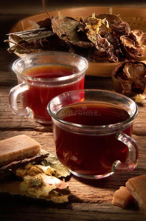 Chinesischer Kraut-Tee lizenzfreies stockbild
