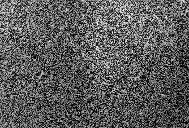 Chinesischer Musterschwarzweiss-hintergrund lizenzfreie stockbilder