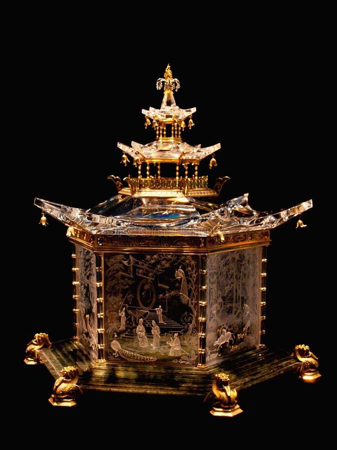 Chinesischer Pavillion durch Steuben-Glas Inc.