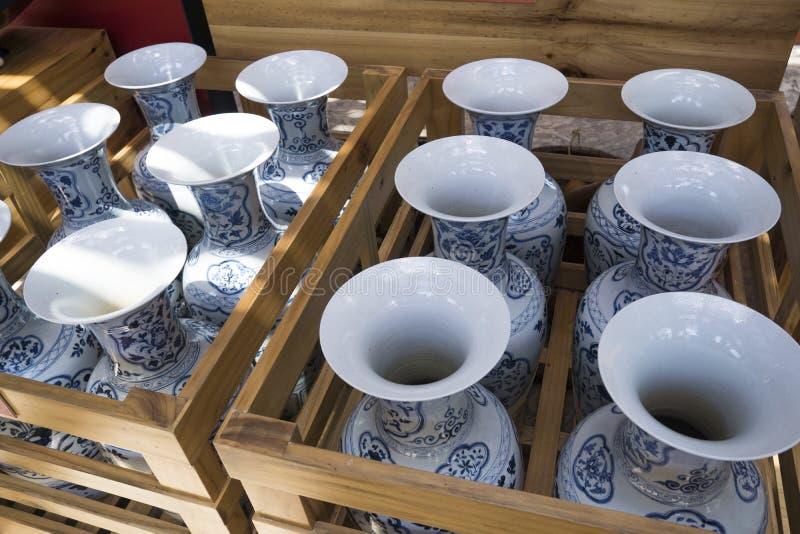 Chinesischer Porzellanvase stockfotografie