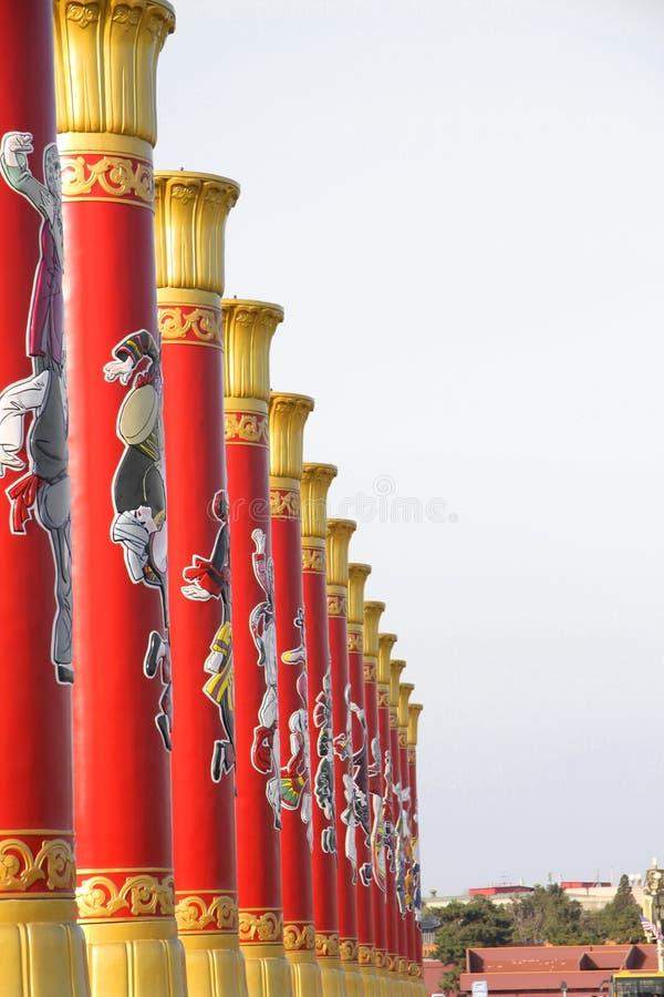 Chinesischer Spalte-Tiananmen-Platz Peking lizenzfreie stockfotos