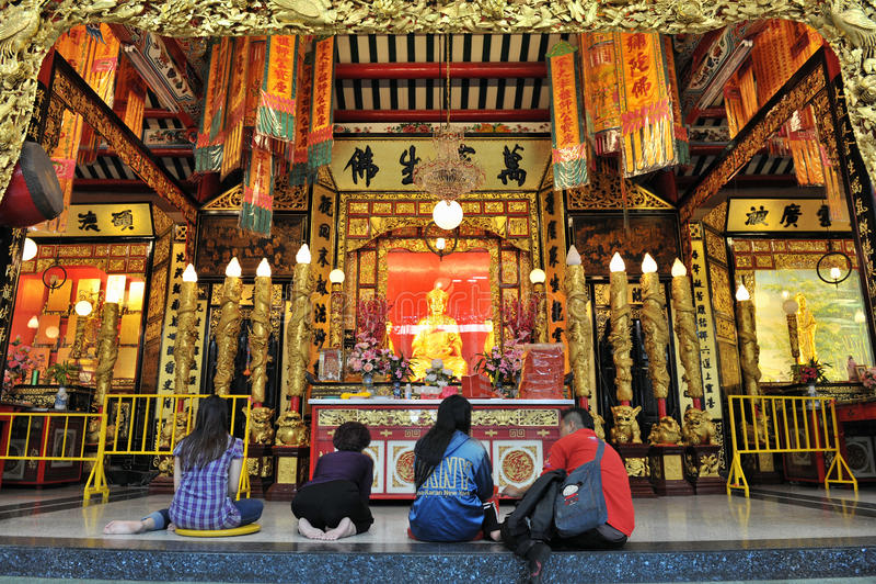 Chinesischer Taoist-buddhistischer Tempel in Bangkok lizenzfreies stockbild