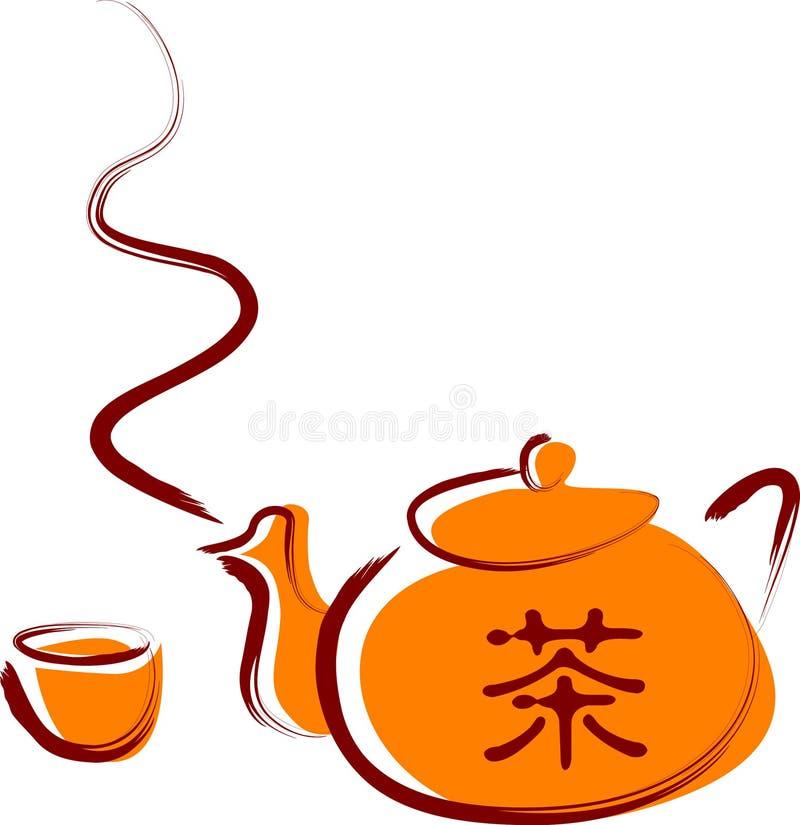 Chinesischer Tee stock abbildung