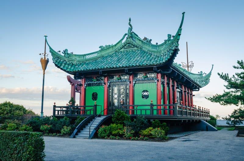 Chinesischer Tee haus- Newport, Rhode Island lizenzfreies stockfoto