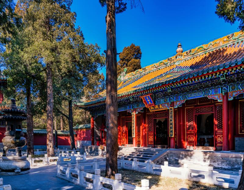 Chinesischer Tempel, Fuzhou, China lizenzfreie stockbilder