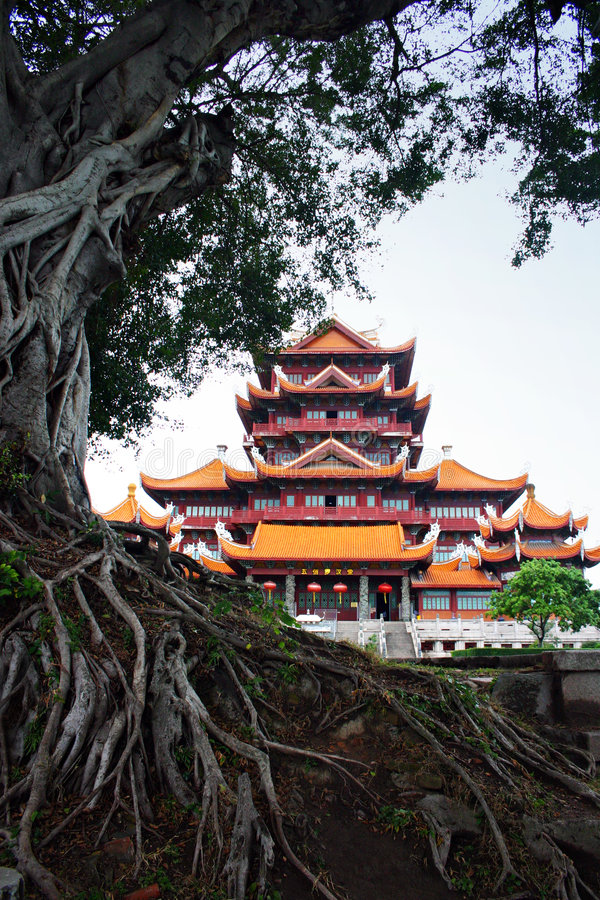 Chinesischer Tempel, Fuzhou, China lizenzfreie stockfotografie