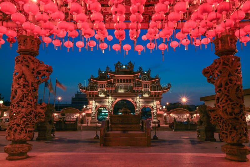 chinesischer Tempel in Georgetown Penang lizenzfreies stockbild