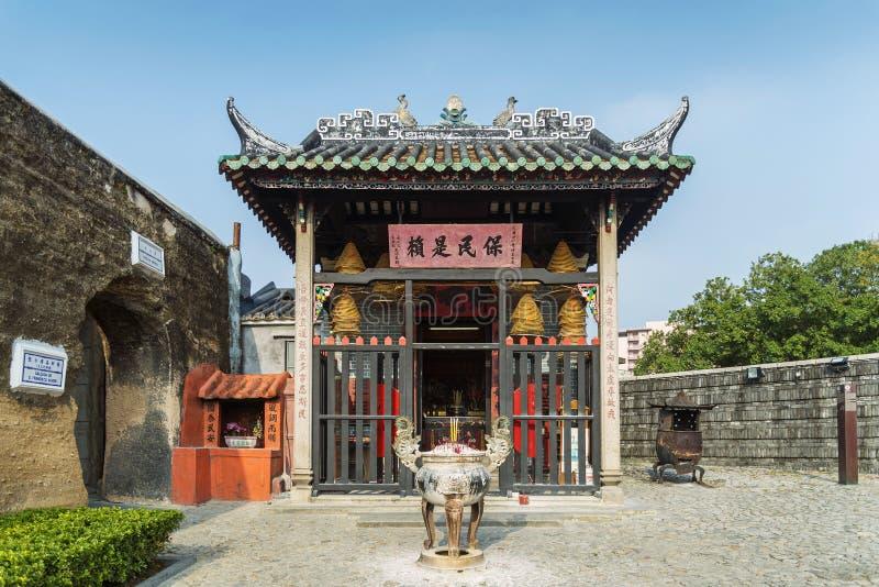 Chinesischer Tempel in Macao-Porzellan stockfotografie
