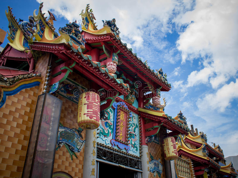 Chinesischer Tempel in Penang lizenzfreie stockbilder