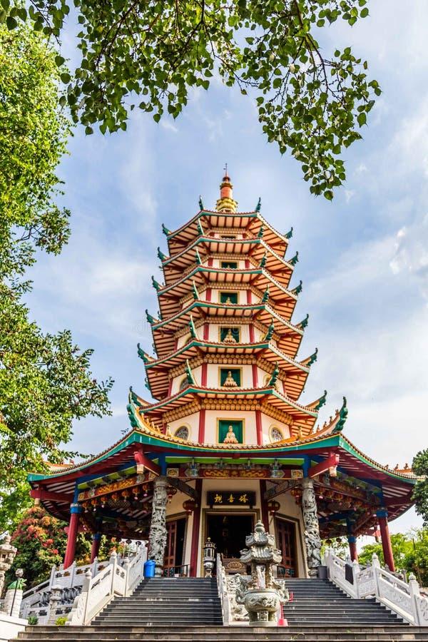 Chinesischer Tempel in Semarang Indonesien lizenzfreies stockbild