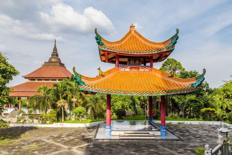 Chinesischer Tempel in Semarang Indonesien stockbilder