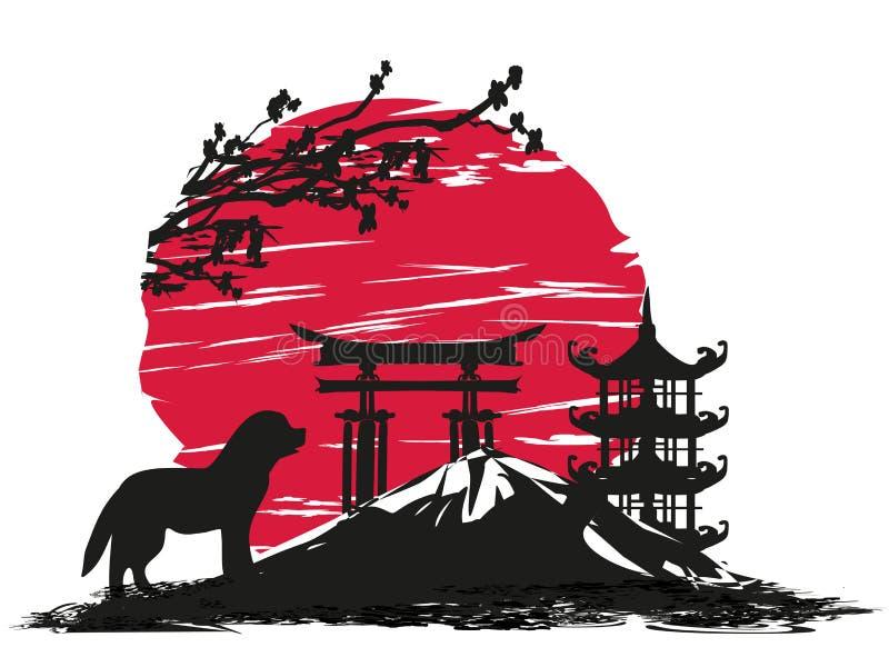 chinesischer tierkreis das jahr des hundes vektor abbildung illustration von asiatisch. Black Bedroom Furniture Sets. Home Design Ideas