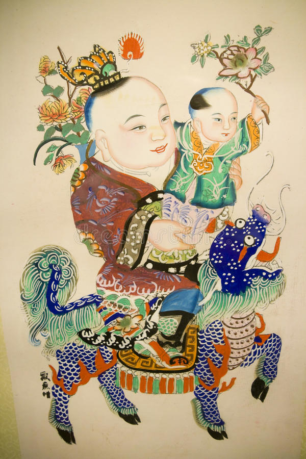 Chinesischer traditioneller Anstrich lizenzfreie stockfotos