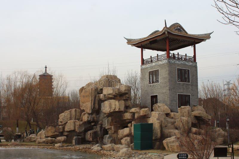 Chinesischer traditioneller Pavillon stockbild