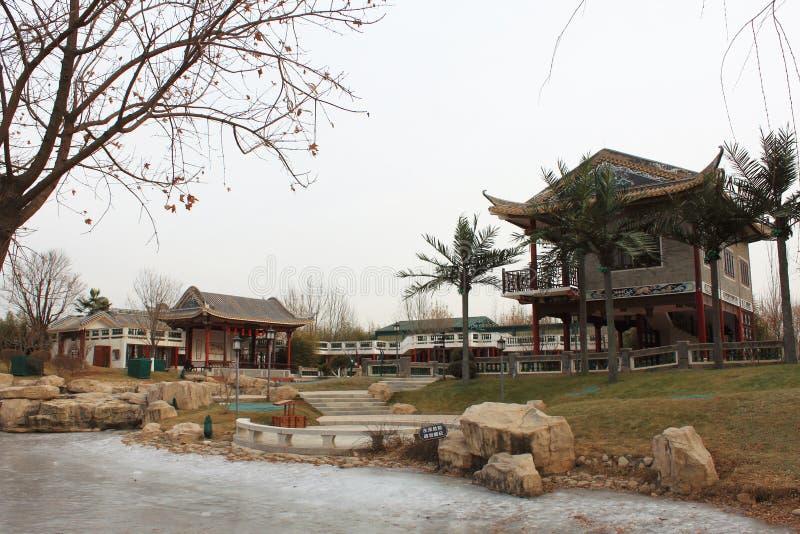 Chinesischer traditioneller Pavillon stockfotografie
