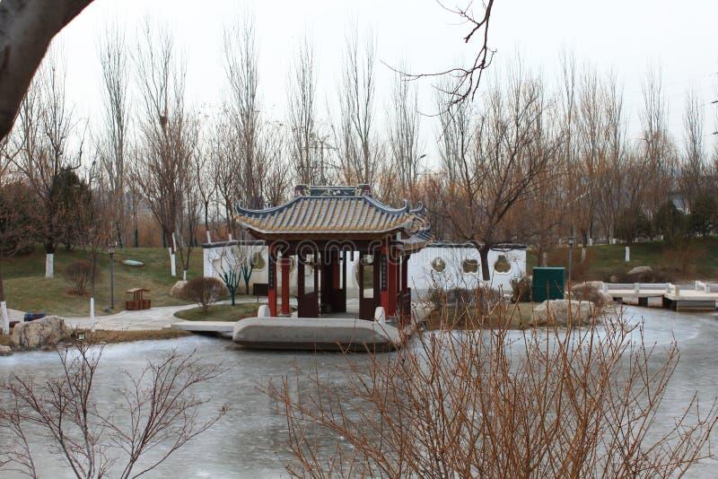 Chinesischer traditioneller Pavillon stockfotos