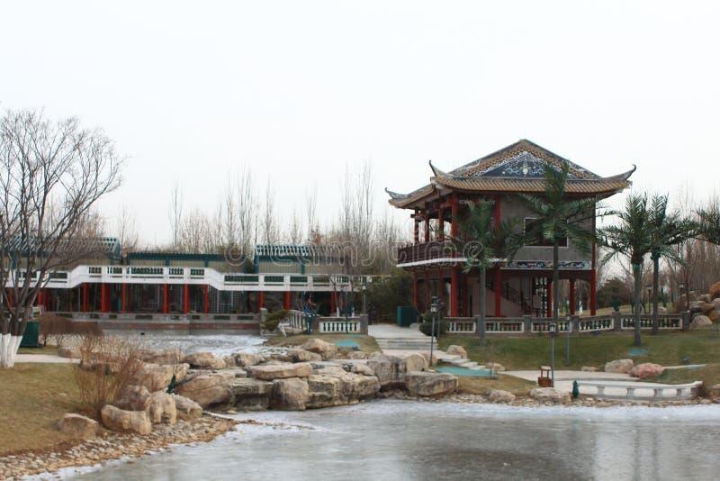 Chinesischer traditioneller Pavillon lizenzfreies stockfoto