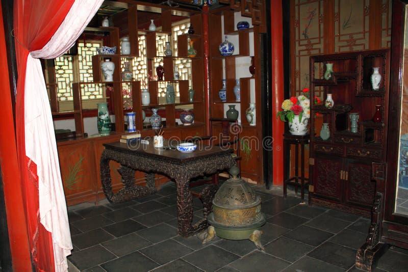 Chinesischer traditioneller Studienraum stockbilder