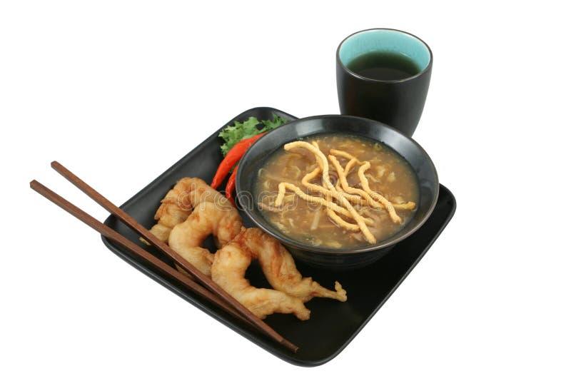 Chinesisches Abendessen getrennt mit Pfad stockfotos