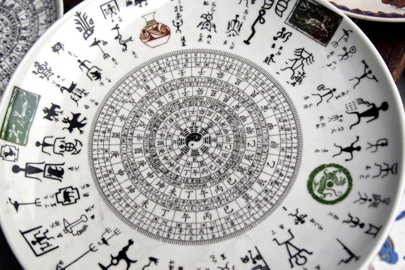 Chinesisches altes Porzellan. stockbild