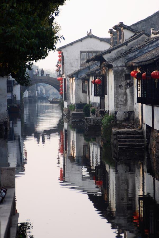 Chinesisches altes Wasser towm lizenzfreie stockfotos