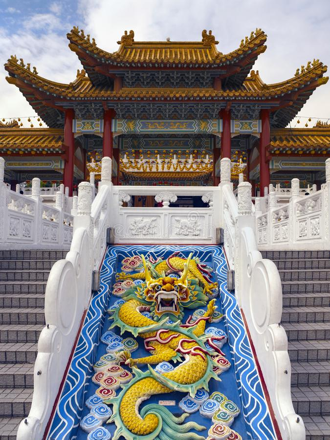 Chinesisches Drache scuplture - Kuala Lumpur - Malaysia stockbilder