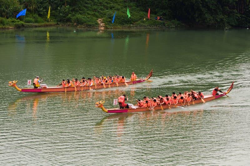 Chinesisches Dracheboot stockfotografie