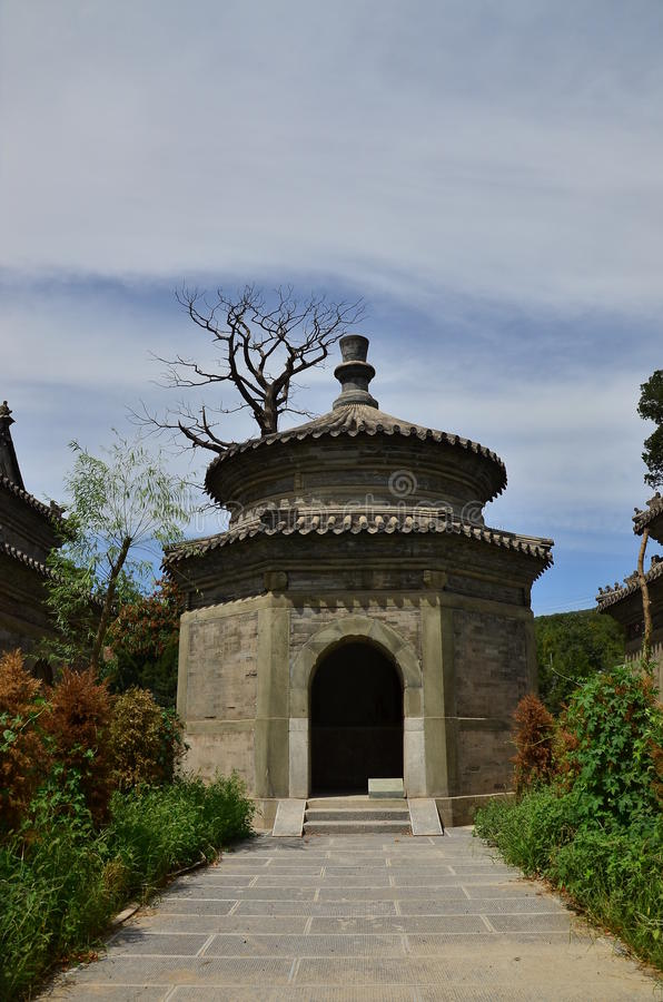 Chinesisches Eunuchmausoleum stockfoto