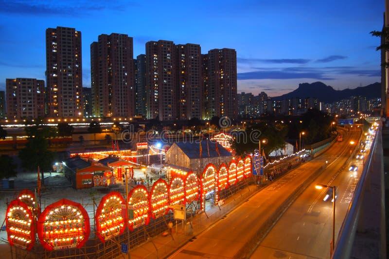 Chinesisches Geist-Festival unter Lion Rock stockfotografie