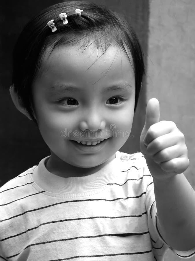 Chinesisches glückliches Kind stockbilder