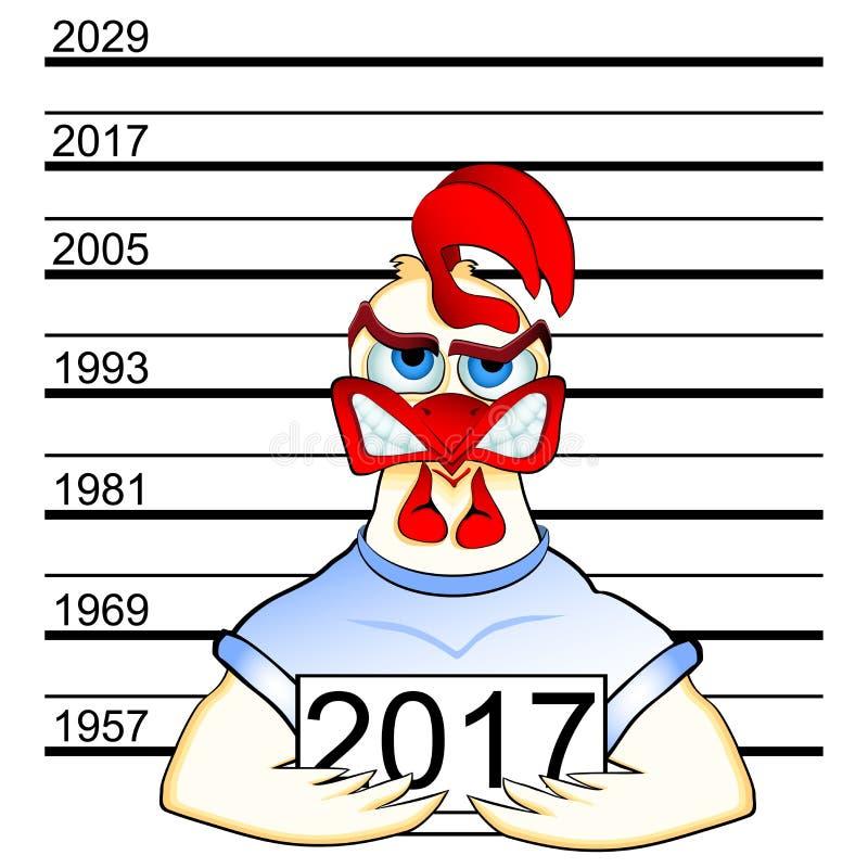 chinesisches horoskop 2017 des hahns vektor abbildung illustration von dekorativ polizei. Black Bedroom Furniture Sets. Home Design Ideas