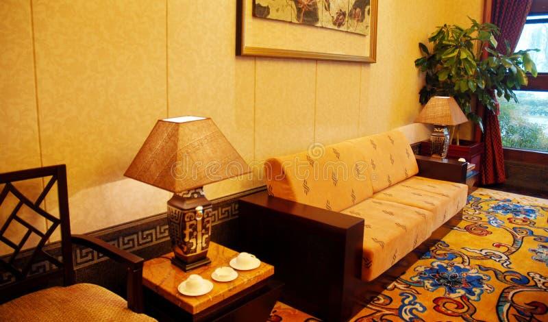 Chinesisches Hotelzimmer   stockbild