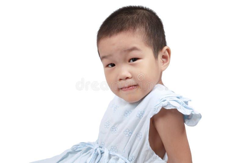 Chinesisches kleines Mädchen stockfoto