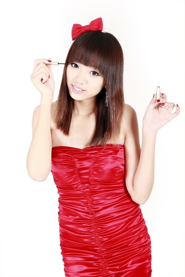 Chinesisches Mädchenbilden Stockbilder