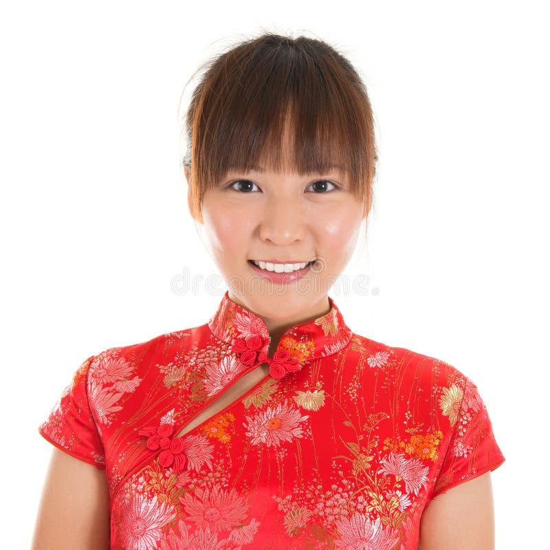 Chinesisches Mädchengesicht lizenzfreies stockfoto