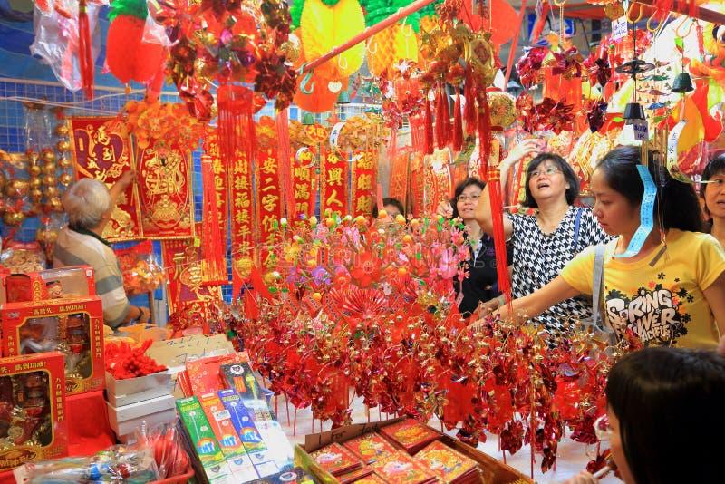 Chinesisches Mondeinkaufen neuen Jahres Singapurs Chinatown lizenzfreie stockfotografie