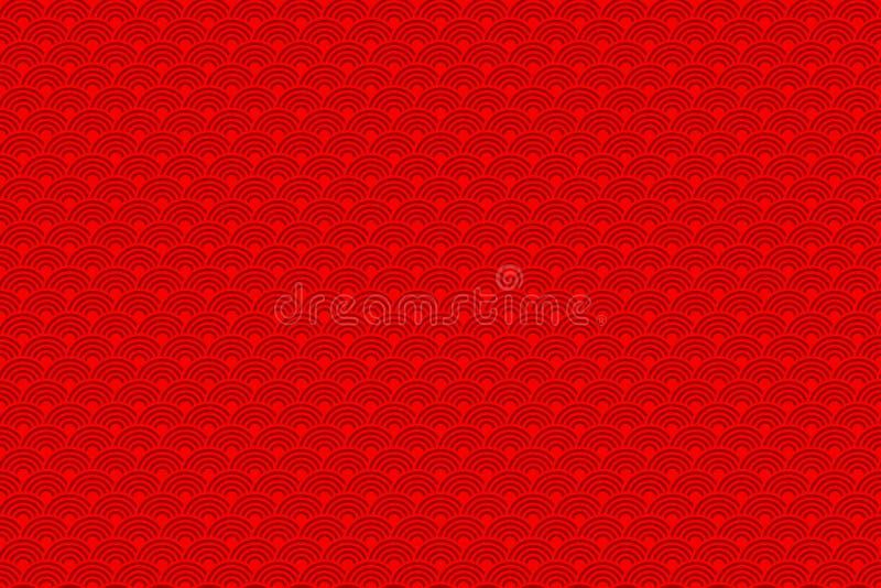 Chinesisches nahtloses Muster Chinesisches neues Jahr 2016 Helle schöne Vektorillustration Hintergrund vektor abbildung