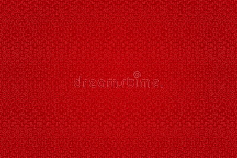Chinesisches neues Jahr des roten Hintergrundes Vector abstrakte Auslegung lizenzfreie abbildung