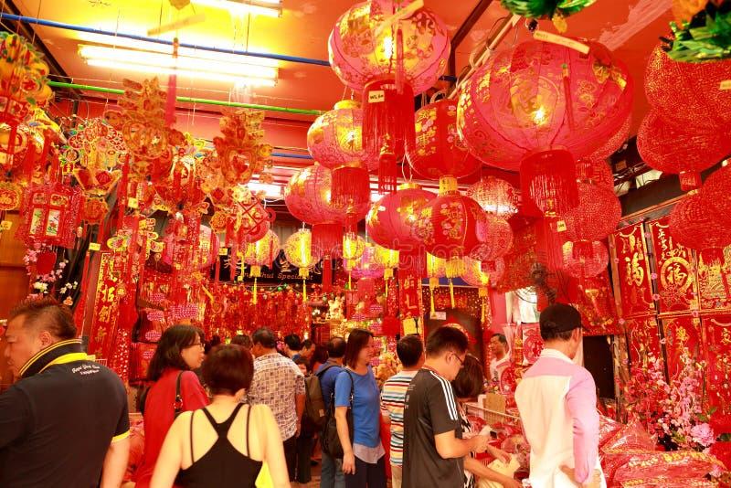 Chinesisches neues Jahr Mondshoppin Singapur-Chinatown lizenzfreies stockbild
