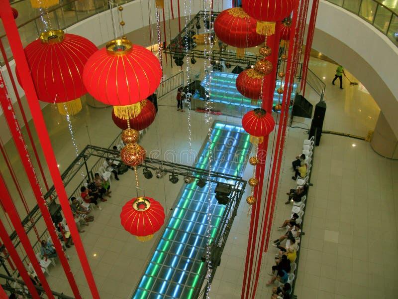 Chinesisches Neujahrsfest bei Fisher Mall, Quezon-Stadt, Philippinen lizenzfreie stockfotos