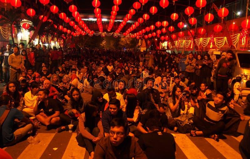 Chinesisches Neujahrsfest 2566 im Solo stockfoto