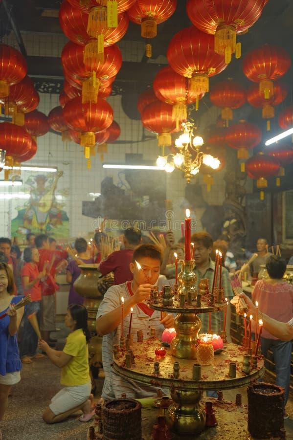 Chinesisches Neujahrsfest Malaysias Penang Georgetown stockfotos