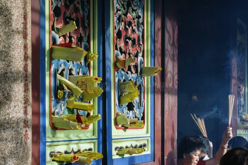Chinesisches Neujahrsfest n PENANGS, MALAYSIA die Göttin von Gnade Tempel lizenzfreie stockfotografie